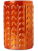 Orange Iridescent Textured Warming Shade