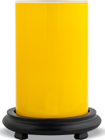 Glossy Yellow Simmering Light with Black Base
