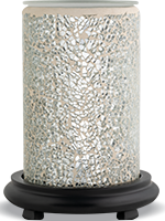 Silver Crackle Simmering Light with Black Base