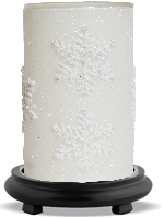 Frosted Flurry Simmering Light with Black Base