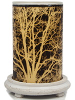 Branches Simmering Light with Antique White Base