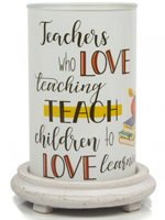 Teacher Simmering Light with Antique White Base