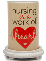 Nurse Appreciation Simmering Light with Antique White Base