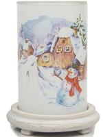 Winter Fairytale Simmering Light with Antique White Base