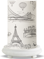 Travel Diaries Simmering Light with Antique White Base