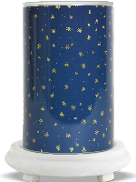Starry Night Simmering Light with Antique White Base