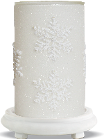 Frosted Flurry Simmering Light with Antique White Base
