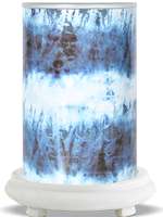 Blue Tie Dye Simmering Light with White Base