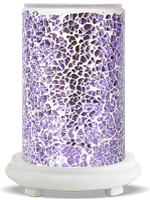 Lilac Crackle Simmering Light with White Base
