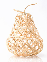 Rattan Pear Accent Shade