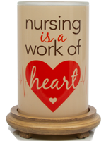 Nurse Appreciation Simmering Light with Wood Grain Base