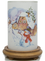 Winter Fairytale Simmering Light with Wood Grain Base