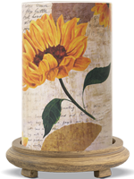 Sunflower Simmering Light with Wood Grain Base