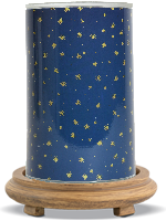 Starry Night Simmering Light with Wood Grain Base