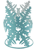 Blue Snowflake Accent Shade