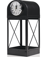Black Lacquer Clock Accent Shade