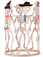 Dancing Skeletons Accent Shade