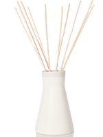 White Ceramic Vase with Natural Reeds