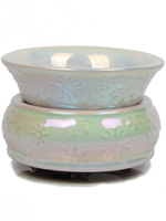 White Iridescent Simmer Pot