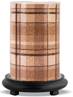 Brown Flannel Simmering Light with Black Base