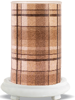 Brown Flannel Simmering Light with Antique White Base