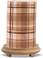 Brown Flannel Simmering Light with Wood Grain Base