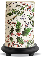 Holly Berry Simmering Light with Black Base